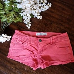 GILLY HICKS | Sydney Denim Shorts Coral size 26  2